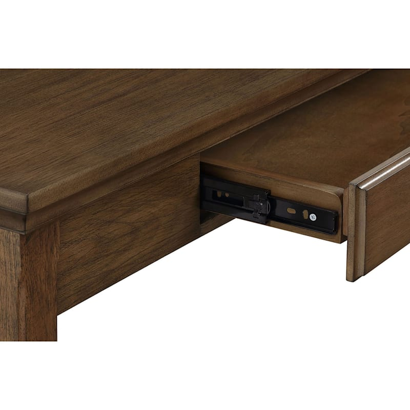 """Catania Brown Office Desk with Storage, 52"""""""