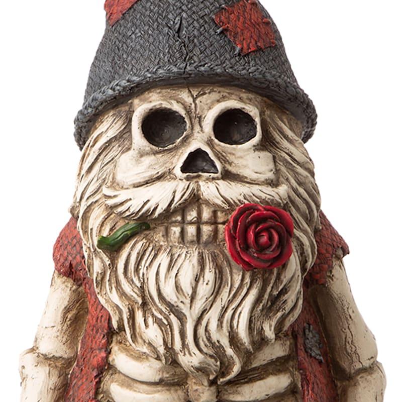 "Wicked Skull Man Gnome, 16"""