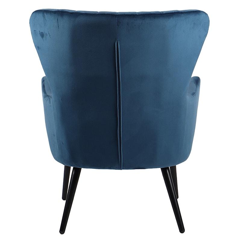 Kelsey Blue Velvet Accent Chair