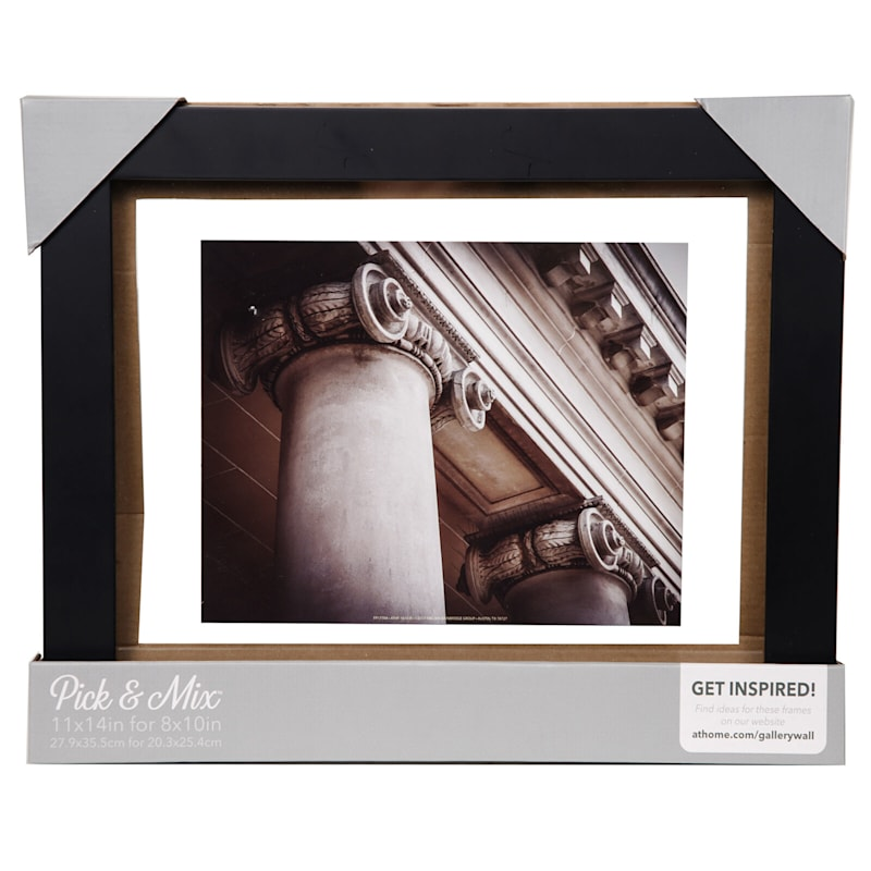 Pick And Mix 11X14 Black Linear Float Photo Frame