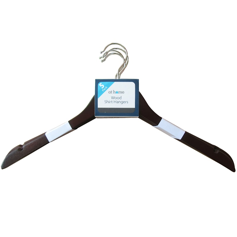 Wood Espresso 5-Piece Shirt Hanger