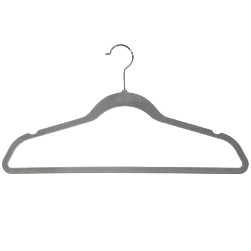 50-Pack Grey Velvet Suit Hangers