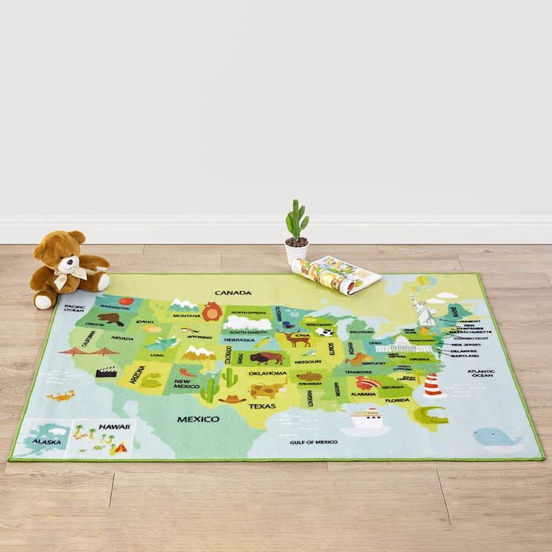 AMERICANA MAP PLAY MAT 40X54