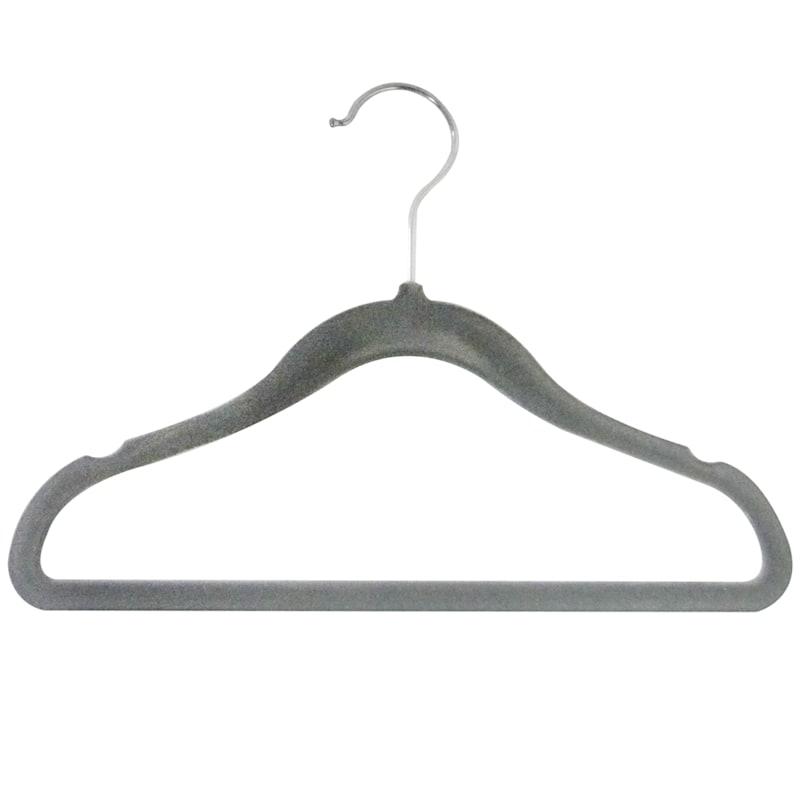 Velvet Kids Dark Grey 10 Piece Hanger