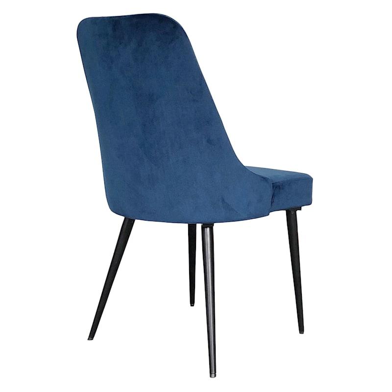 Indigo Blue Velvet Dining Chair