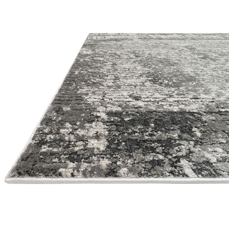 (B528) Holden Abstract Gray Area Rug, 7x10