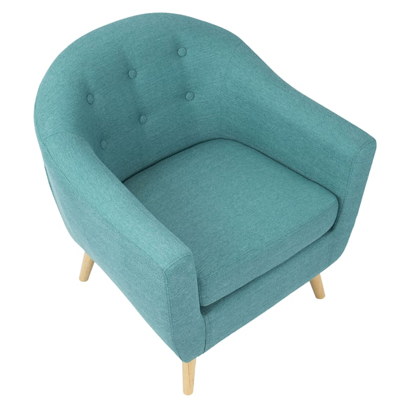 Rockwell Teal Mid-Century Modern Accent Chair