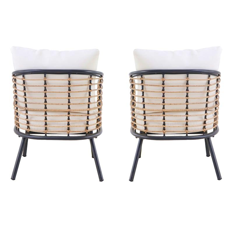 Tracey Boyd Steel 2-Piece Wicker Chair Set