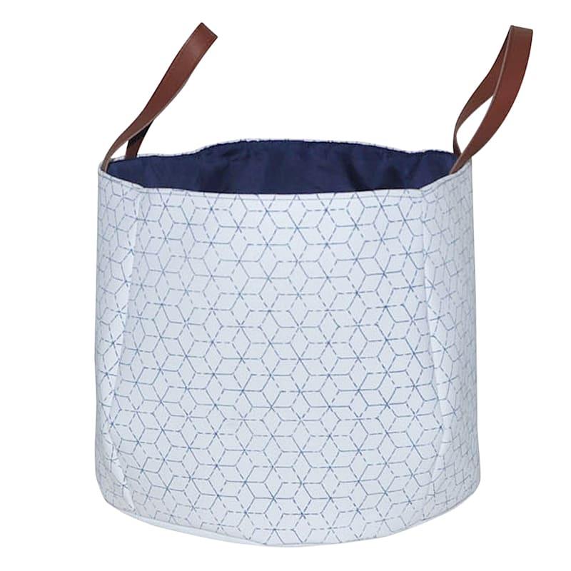 Round Basket W/Diamond Print L