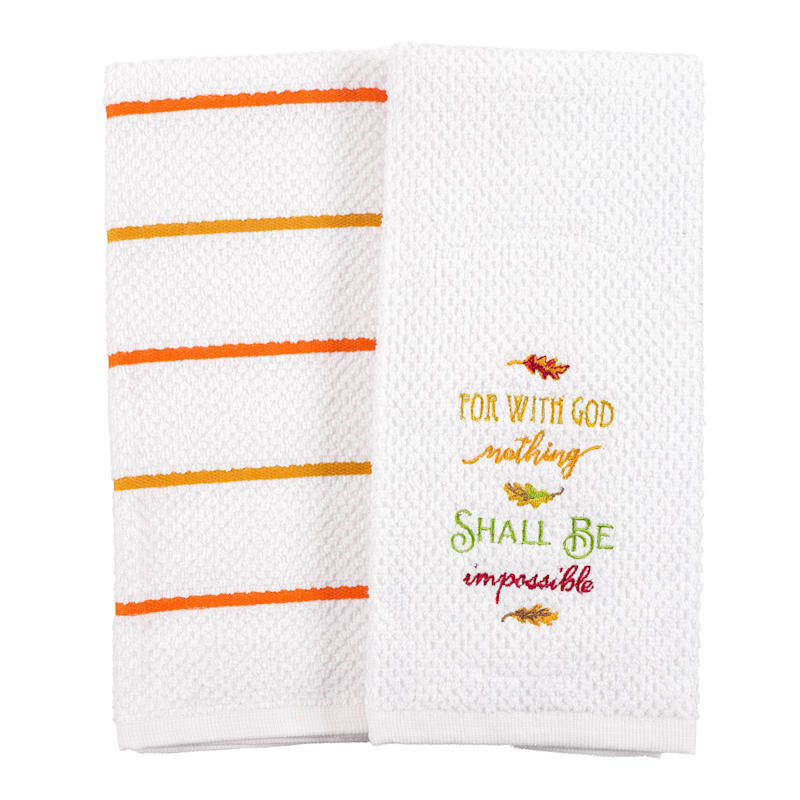 Set of 2 Terry With God Hand Towels