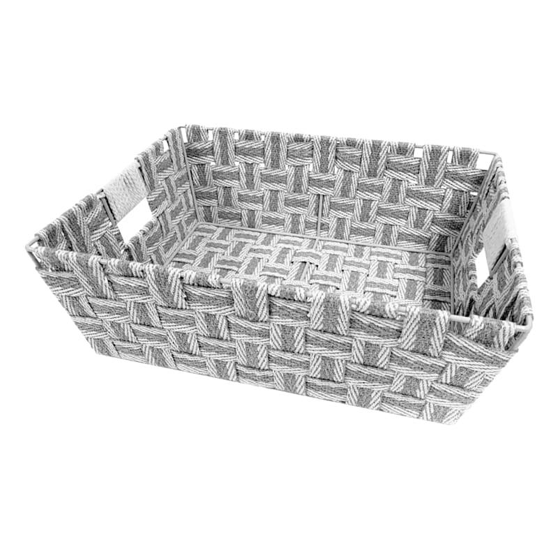 Cotton Strap Bin Grey/Beige