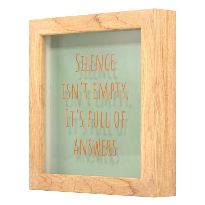 SILENCE SCREEN PRINT GLASS