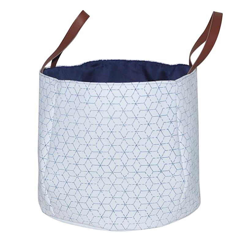 Round Basket W/Diamond Print S
