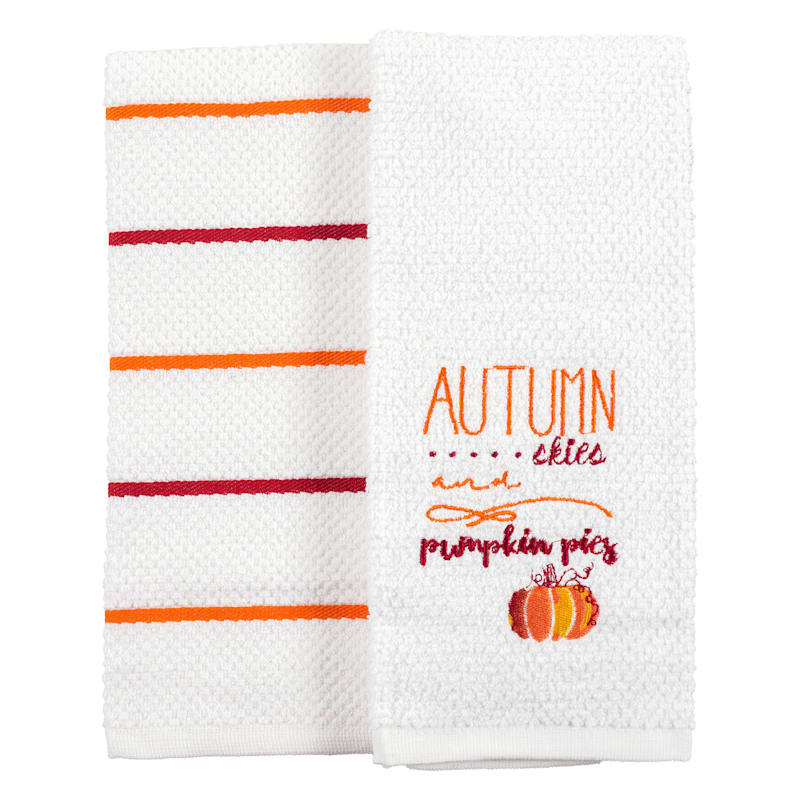 Set of 2 Terry Autumn Skies Hand Towels