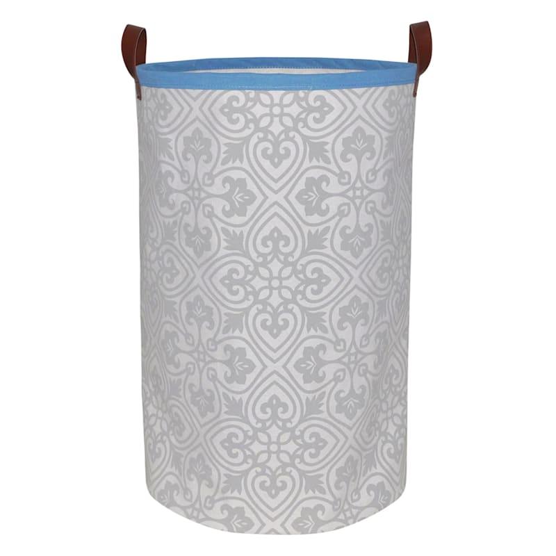 Round Tile Fabric Hamper L