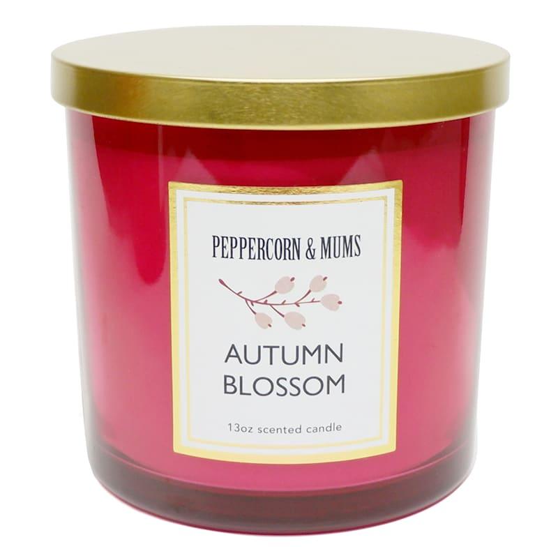 Autumn Blossom Maroon Jar Candle, 13oz