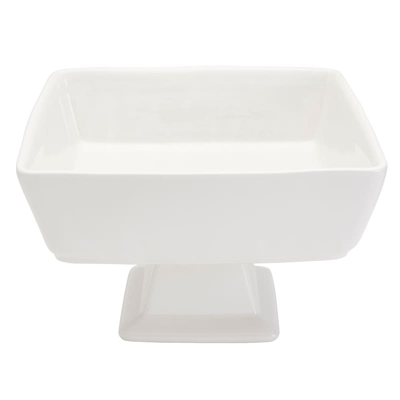 Blanc De Blanc Square Footed Serve Bowl